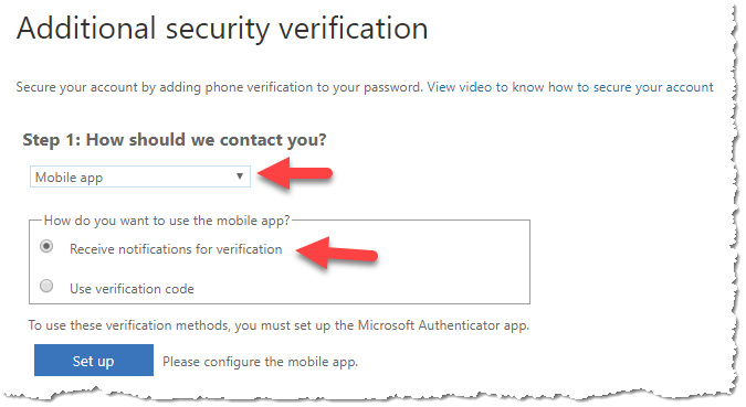 Office 365 - Additional security verifciation